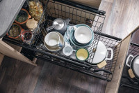 Kitchen pull-out including two wire baskets and non-slip mat